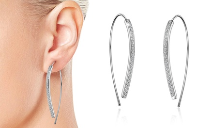 One or Two Pairs of Phillip Jones SilverPlated Earrings with Crystals from Swarovski®