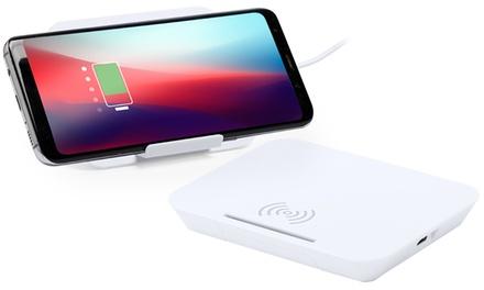 Base de carga wireless con soporte para smartphone