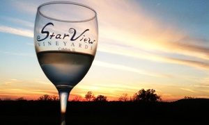 StarView Vineyards: Winery Experience for Two or Four with Wine Tastings and Entrees at StarView Vineyards (44% Off)