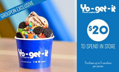 $9 for $20 to Spend on Self-Serve Frozen Yoghurt or Smoothies at Yo-get-it - 7 Locations