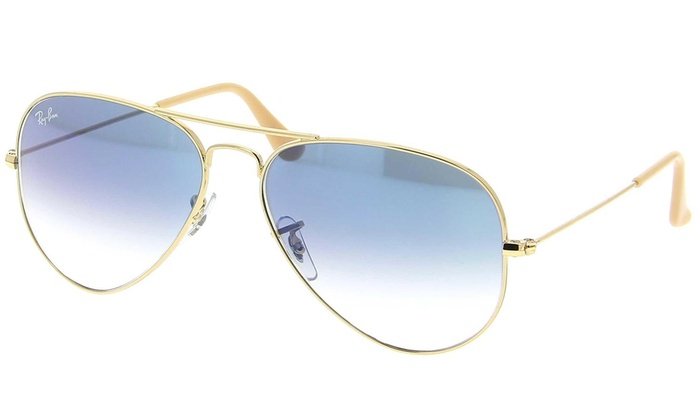 76e612dbfe6b Ray-Ban Unisex Gold Light-Blue Gradient Aviator Sunglasses