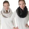 Knit Furry Scarf
