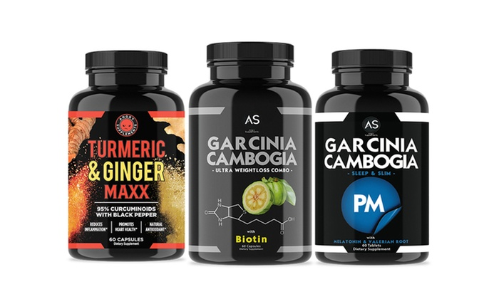 Turmeric And Ginger Garcinia Cambogia Pm And Garcinia Biotin 3