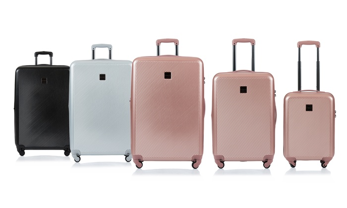 Rose Gold CHAMPS YONGE Collection 3-Piece Expandable HARDSIDE Spinner Luggage Set