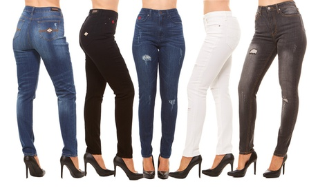 Red Jeans Women's High-Waist Ultra Slimming Skinny Jeans