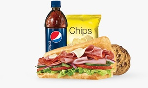 Boston Foods - Subway: Subway Combo Meal for Up to Four, Three Locations at Boston Foods - Subway (Up to 41% Off)