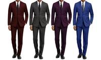 2-Piece Braveman Men's Slim Fit Solid Suit