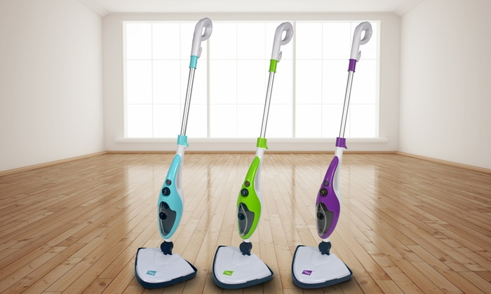 Neo Ten-in-One 1500W Steam Mop Cleaner with Optional One, Two or Five Extra Pad Packs
