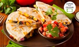 Mucho Gusto Gastronomia Tex-Mex: Nachos, quesadilla saltillo e chimichanga Frida para 2 pessoas no Mucho Gusto Gastronomia – Asa Norte