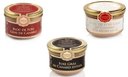 Pack de 3 variedades de Foie Gras Volex