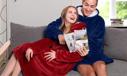 Plush Blanket Hoodie in a Choice of Colour: One $29 or Two $54
