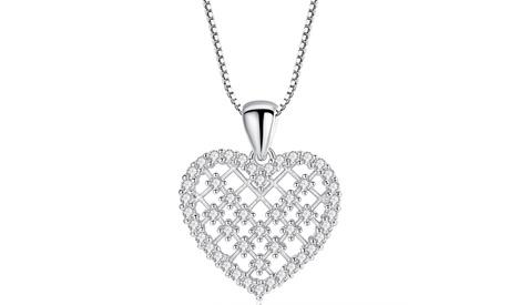 1, 2 o 3 colgantes de corazón decorados con cristales de Swarovski®