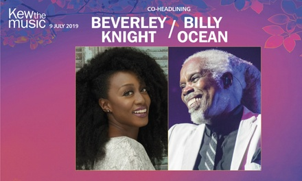Beverley Knight and Billy Ocean, 9 July at Royal Botanic Gardens