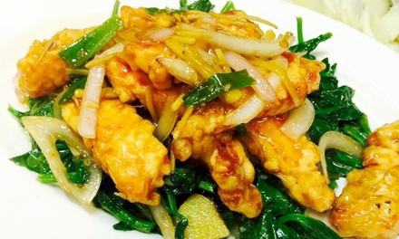 Pan-Asian Food and Drinks at Gourmet House Restaurant (Up to 47% Off). Two Options Available.