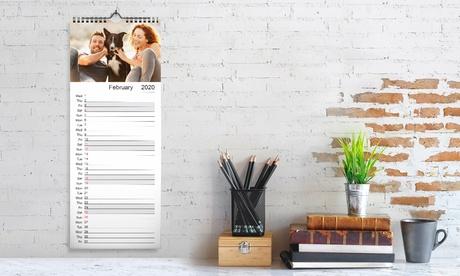 1, 2, 3, 4 o 5 calendarios de pared personalizados a dobre cara en Printerpix (hasta 79% de descuento)
