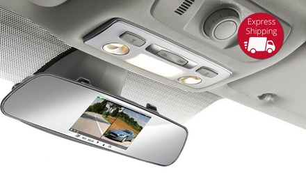 $79 for a Mirror Dual Crash Camera with Bluetooth
