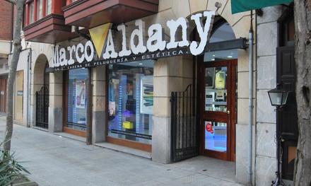 Sesión de peluquería con corte y tratamiento a elegir desde 14,95 € en dos centros Marco Aldany Euskadi
