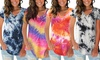 Tie-Dye V-Neck Top