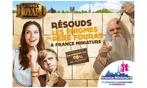 France Miniature: Entrée pour enfant (de 4 à 14 ans) ou adulte pour le parc France Miniature du 1 avril au 21 mai 2017 dès 10,50 €