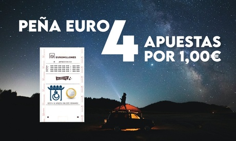 Participación para peña con 4 apuestas de Euromillones entre 12 participantes con Serviapuestas