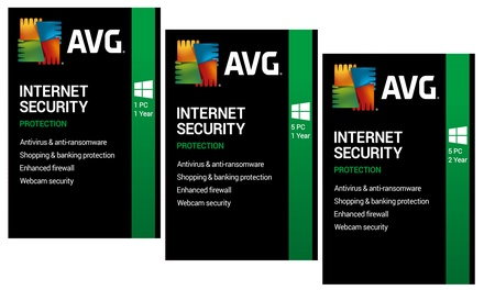 AVG Internet Security 2020 de 1 año para 1 PC o 5 PC o de 2 años para 5 PC