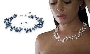 Collier aux perles naturelles