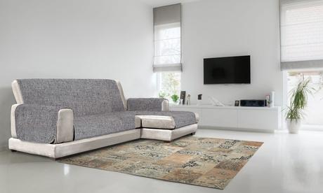 Funda de sofá antideslizante con chaise-longue