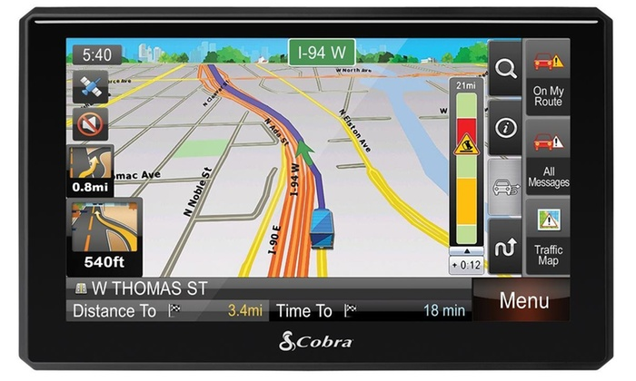 "Cobra 7"" Commercial Driver GPS with Lifetime Maps and Traffic (Refurbished)"