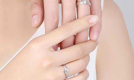 Set de anillos adornados con cristales Van Amstel