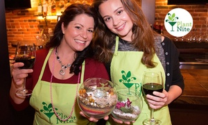 49% Off Terrarium & Garden-Making Social Event  at Plant Nite, plus 6.0% Cash Back from Ebates.