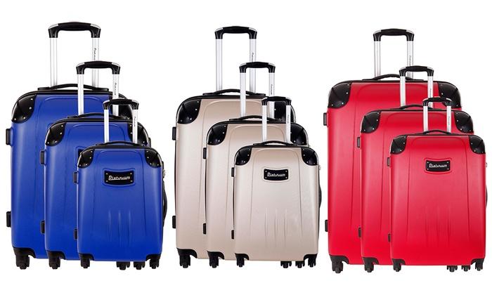 Ensemble de 3 valises en ABS Platinium collection Dorset plusieurs coloris au choix à 11990€ (84% de rduction)