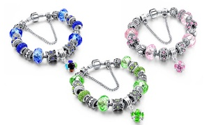 Crystal Ball Charm Bracelet made with Swarovski Elements