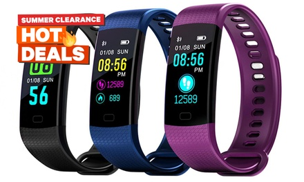 Colour Screen Waterproof Fitness Tracker with Blood Pressure and HR Monitor: One ($25) or Two ($45)