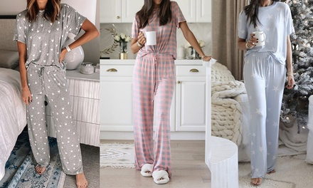 Two-Piece Printed Pyjama Set: One ($25) or Two ($45)