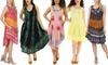 Shoreline Women's Tie Dye Batik Print Dresses. Plus Sizes Available.
