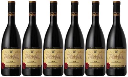 1 o 2 cajas de 6 botellas de vino tinto Monte Real - Bodegas Riojanas D.O. Rioja (envío gratuito)