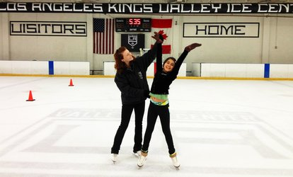 <strong><strong>Ice</strong>-Skating</strong> Outing for Two or Four at Los Angeles Kings Valley <strong>Ice</strong> Center (Up to 50% Off)