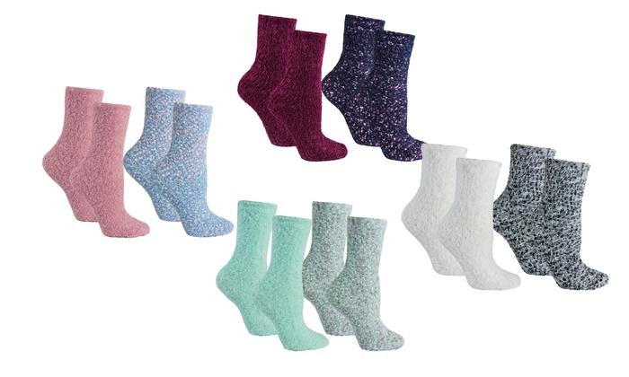 Lavender-Infused Slipper Socks (4-Pack)