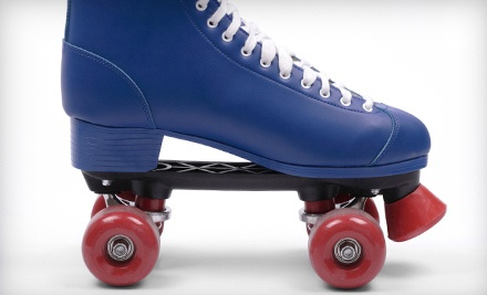 $17 for Roller Skating for Four with Skate Rentals, a 12-Inch Pizza, and Pitcher of Soda at Holiday Skatium ($44 Value)