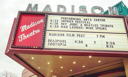 image for Movies and Snacks for Two or Four at The Madison Theater (Up to 48% Off)