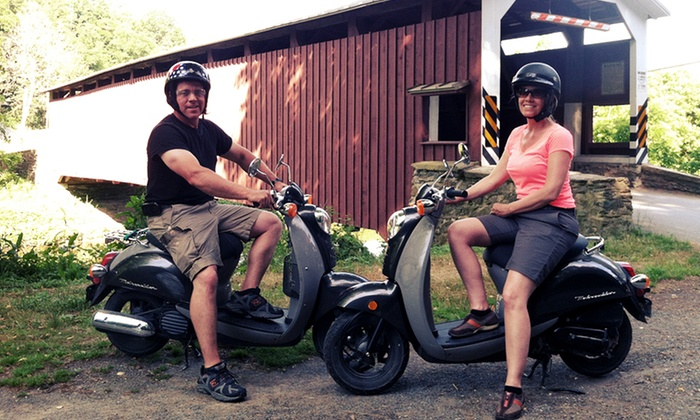 Strasburg Scooters - Strasburg: Covered-Bridge and Amish-Farm Scooter Tour for Two or Four from Strasburg Scooters (Up to 60% Off)