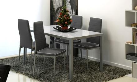 Set tavolo con 4 sedie arcadia groupon goods - Sedie diva groupon recensioni ...