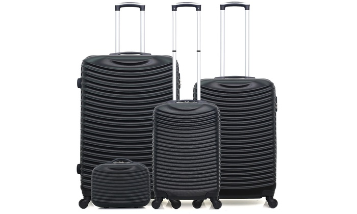 Hero Set of Three Suitcases with Vanity Case