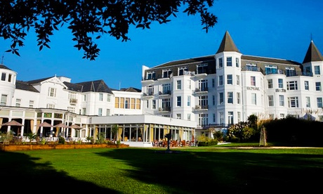 Bournemouth: 1 or 2 Nights for Two with Breakfast, Bottle of Wine and Option for Dinner at The Royal Bath Hotel