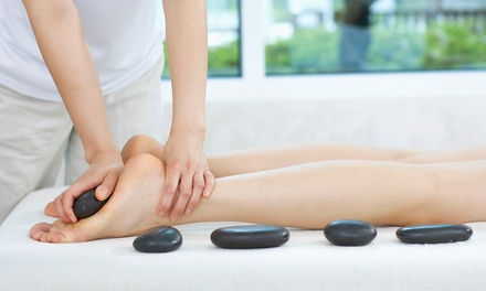 Hot Stone Foot Massage, Foot Spa and Tea $39 or 2 People $75 at The Little Gem Cafe Spa Massage Up to $173