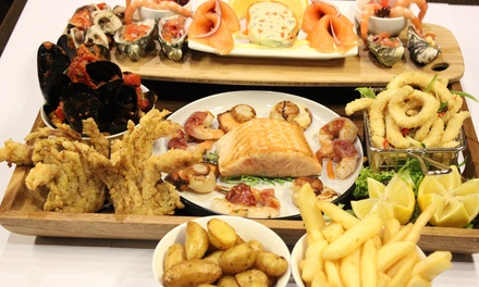Seafood Platter with Wine for Two $89 or Six People $259 at The Groove Train, Geelong Up to $570 Value