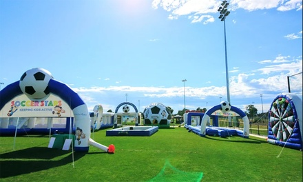 Inflatable Waterpark Entry: 1 $12, 2 $24 or 4 Ppl $48 @ Soccer Stars Inflatable Fun Park Up to $68.50 Value