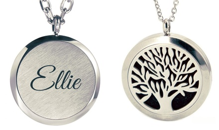 Personalised Aromatherapy Essential Oil Diffuser Necklace: One $9 or Two $17 Don't Pay up to $58.70