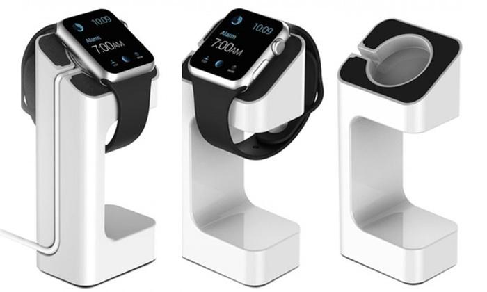 Groupon Goods Global GmbH: 1 ou 2 supports et stands de charge pour Apple Watch en blanc