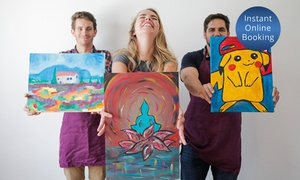 Sleight of Hand Art: Two-Hour Social Painting Classfor One ($25), Two ($49) or Four People ($95) at Sleight of Hand Art (Up to $160 Value)